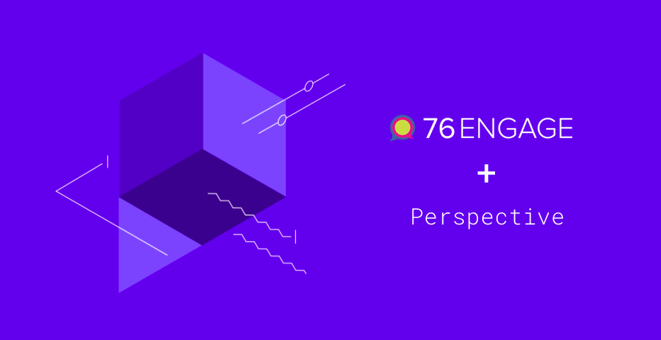 Comment moderation with 76engage and Perspective API